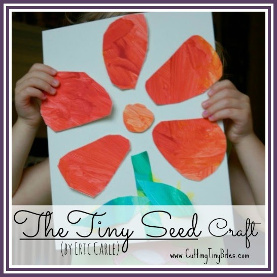 Flower craft to use with the Eric Carle book The Tiny Seed. Great for preschoolers or kindergartners.