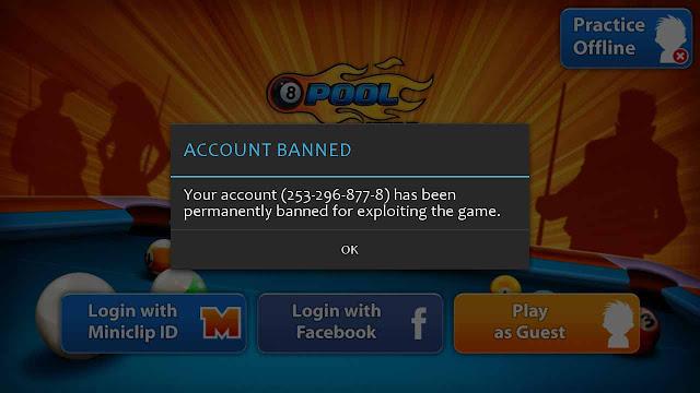 cara atasi banned 8 pool