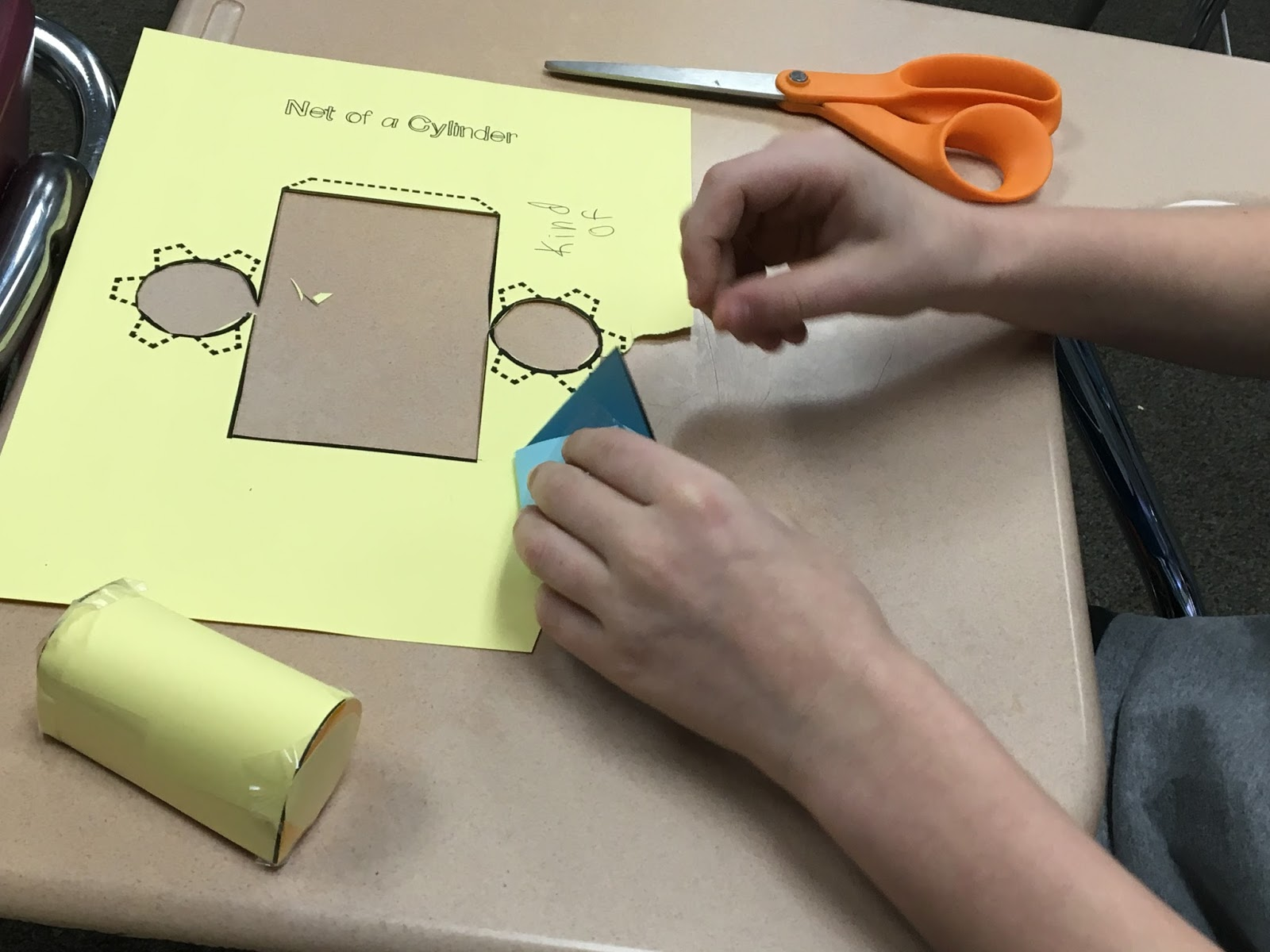 Middle School Math Man Hands On Volume Of Composite