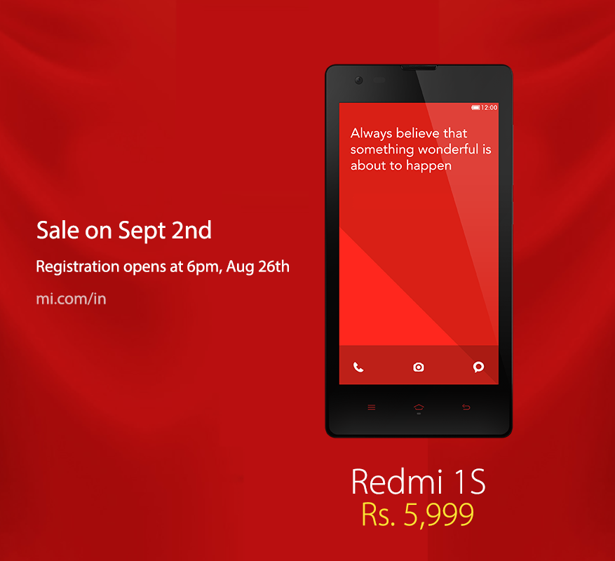 Xiaomi Redmi 1S Available For Pre-Order In India
