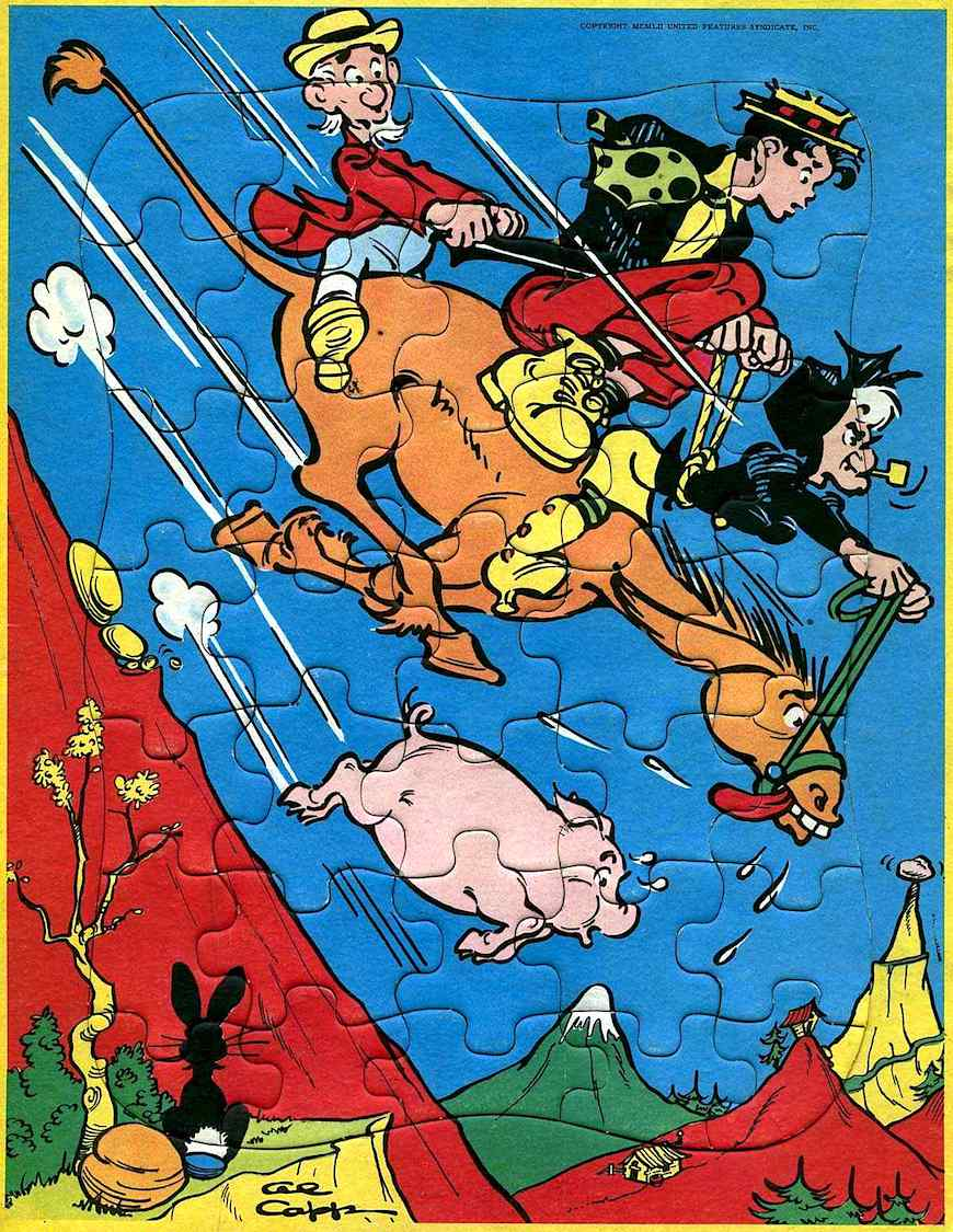 an Al Capp Little Abner color puzzel with Mammy Yokum