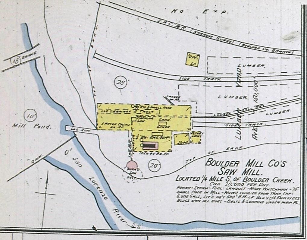 Santa Cruz Trains Railroads Of The Monterey Bay Boulder Mill