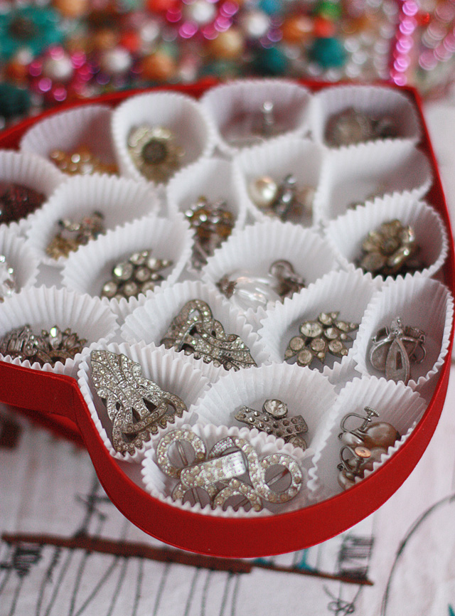 Jewelry Storage Bracelets Rings Earrings Chocolate Box Candy DIY Russell Stover Jewel Display