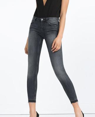 Zara mid rise skinny jeans