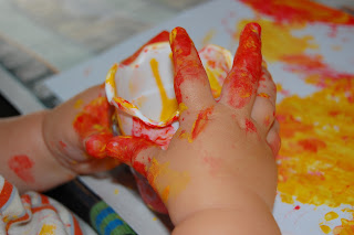 childs hand painting