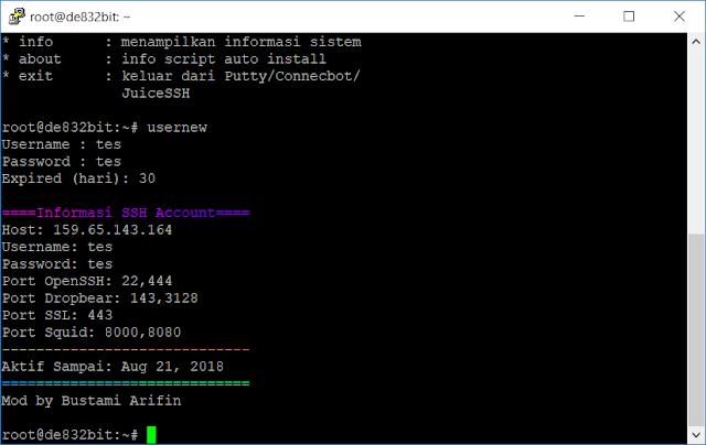 Script Auto Install SSH untuk VPS Debian 8 Jessie 32 Bit dan 64 Bit