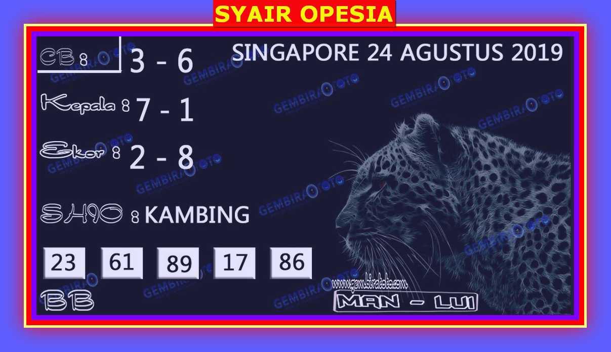 KODE SYAIR SINGAPORE OPESIA
