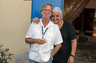 Pino Daniele and Eric Clapton. Sadly Pino died earlier this week