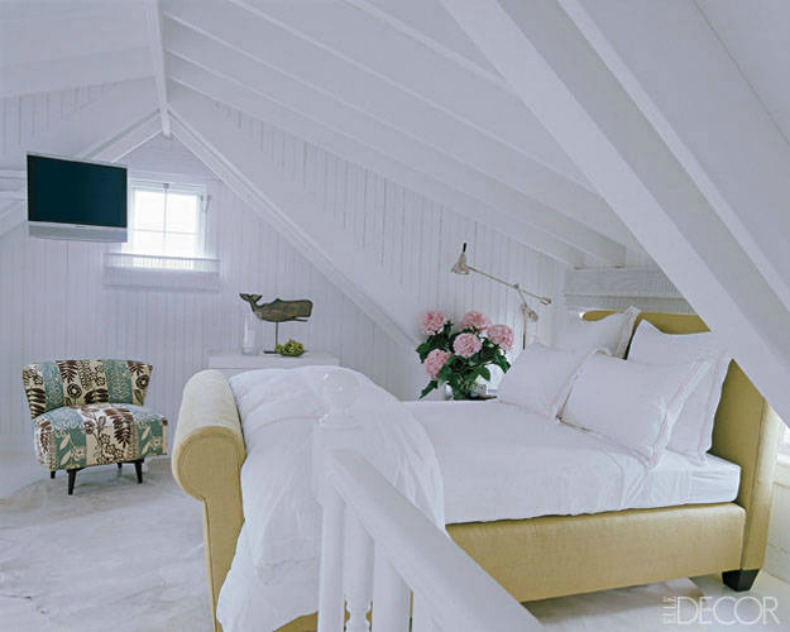 white coastal beachy bedroom
