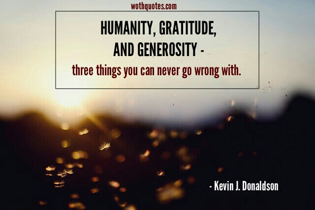 Inspirational Quotes And Sayings About Generosity