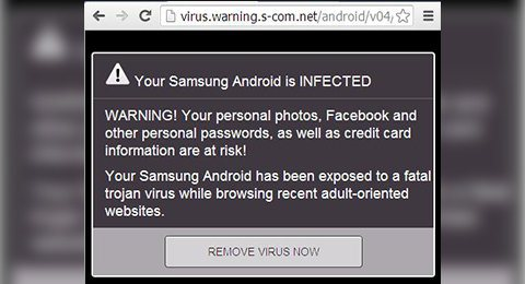 Presence of a malware or virus