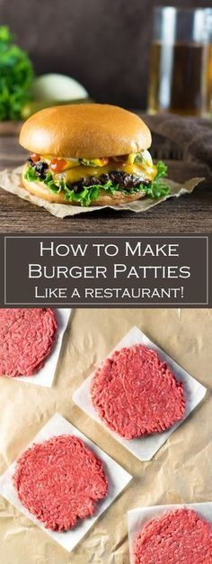 How to Make Burger Pattíes Líke a Restaurant