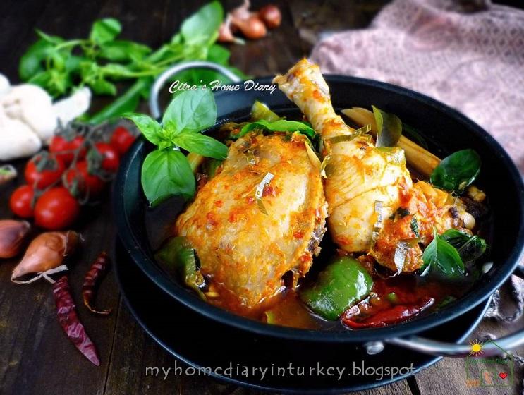 Citra S Home Diary Authentic Indonesian Food Recipe Manadonese Chicken Woku Ayam Woku Belanga