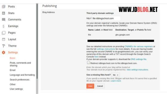 menambahkan subdomain ke blogger
