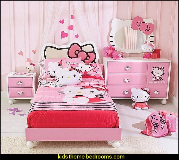 HELLO KITTY  BEDROOM IN A BOX  Hello Kitty bedroom ideas - Hello Kitty bedroom decor - Hello Kitty bedroom decorating - Hello Kitty bedroom furniture - Hello Kitty Wallpaper Mural - Hello Kitty Throw Pillows - Hello Kitty bedding - Hello Kitty Rugs