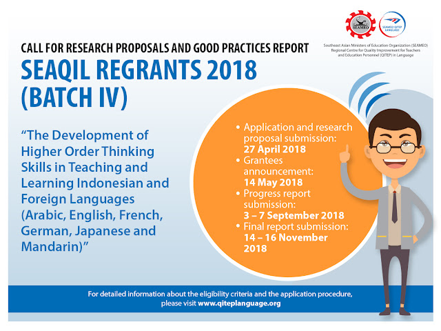 Hibah Penelitian SEAQIL REGRANTS 2018