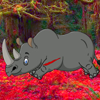 Bigescapegames Big Rhinoceros Forest Escape Walkthrough