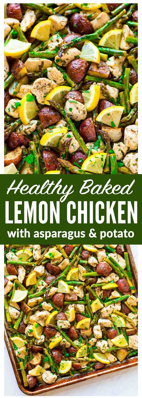 Baked Lemon Chicken with Asparagus