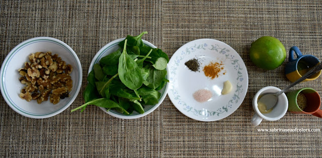 Dip o paté de espinacas y nueces