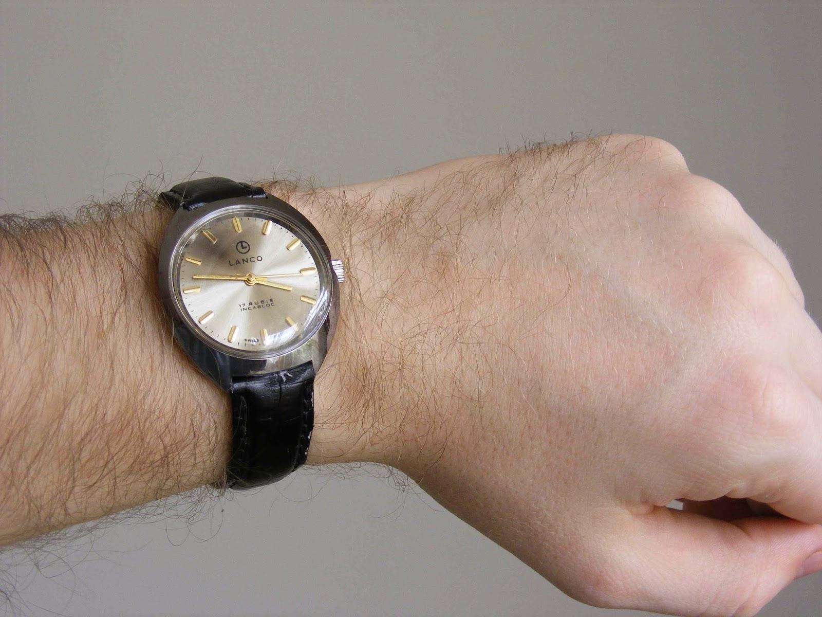 vintage mechanical wristwatch