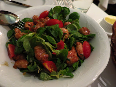 Brasserie Gavroche, lamb sweetbread salad