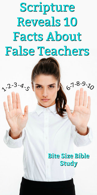 Scripture teaches these 10 Things about false teachers in the Church. Let's heed these warnings. #Bible #Falseteachers