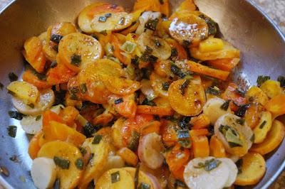 Fondue de carottes et de navets caramélisés