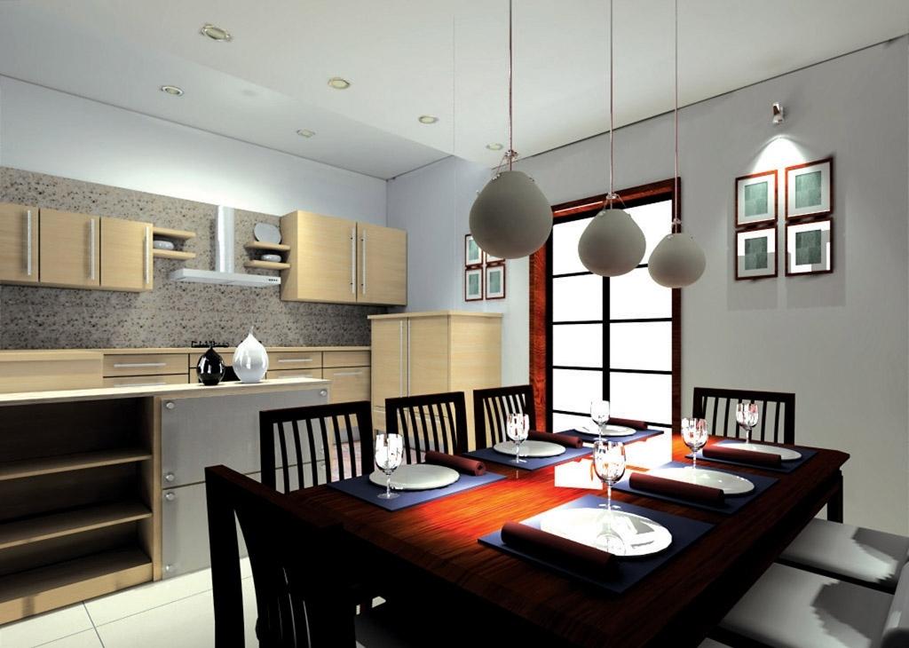 Ruang Makan dan Dapur Minimalis Sederhana Modern