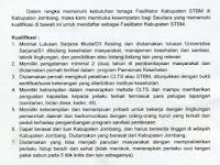 Pengumuman Rekrutmen tenaga Fasilitator Kabupaten STBM Dinkes Kabupaten Jombang Tahun 2017