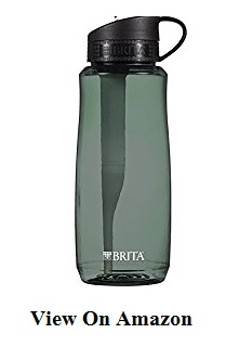 Brita thirty four Ounce onerous Sided bottle with one Filter, BPA Free, Black