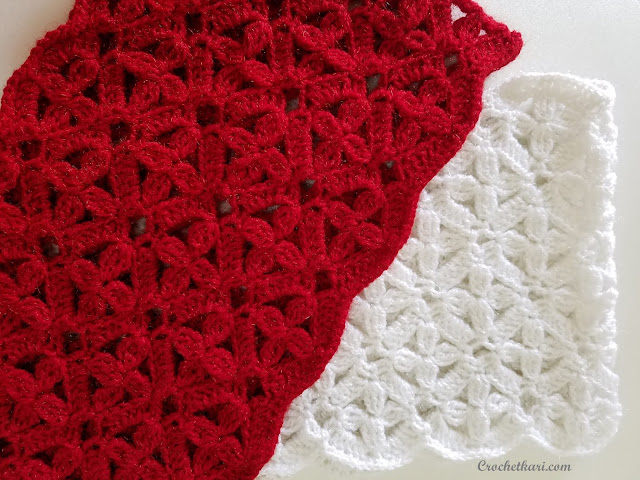 Flowers in my window cowl crochet pattern by Crochetkari detail