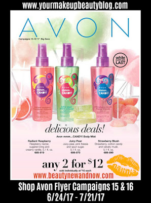 Shop Avon Flyer Delicious Deals Campaigns 15 & 16. Good through 6/24/17 - 7/21/17