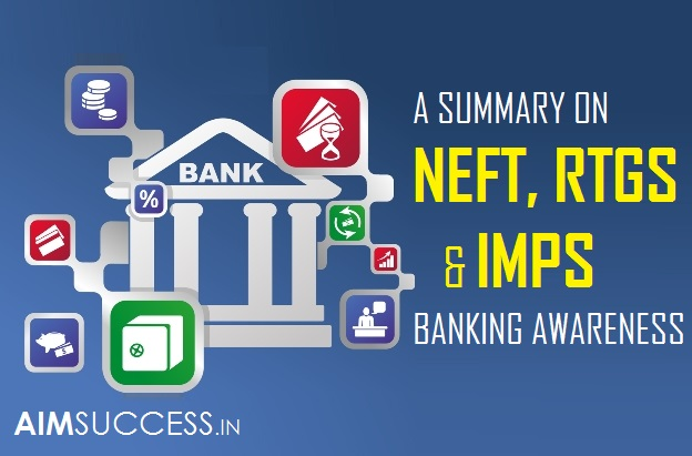 A SUMMARY ON NEFT, RTGS & IMPS - BANKING AWARENESS
