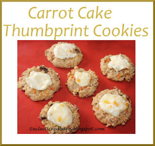 Eclectic Red Barn: Carrot Cake Thumbprint Cookies