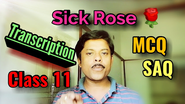 Class 11 video 👉the sick rose, poem bengali meaning, analysis, metaphor, questions and answers