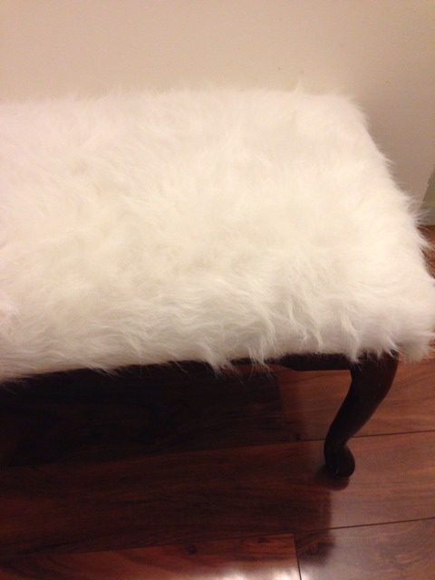 FAUX FUR COVERED BENCH