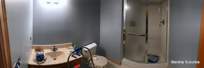 Blue Bathroom mid redecoration