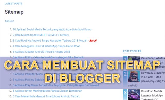 Cara Membuat Halaman Sitemap di Blogspot | Keren Banget