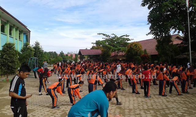 Suasana Senam Pagi di SD Negeri 009 Sangatta Utara