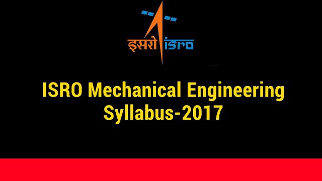 ISRO syllabus for mechanical Engineering