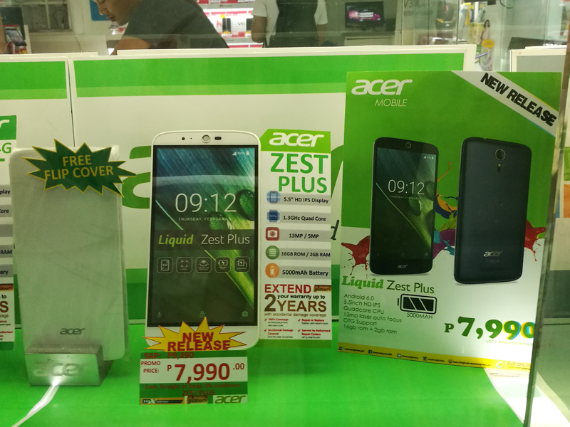 Acer Liquid Zest Plus With 5000 mAh Battery Now In The Philippines, Priced At 7990 Pesos!