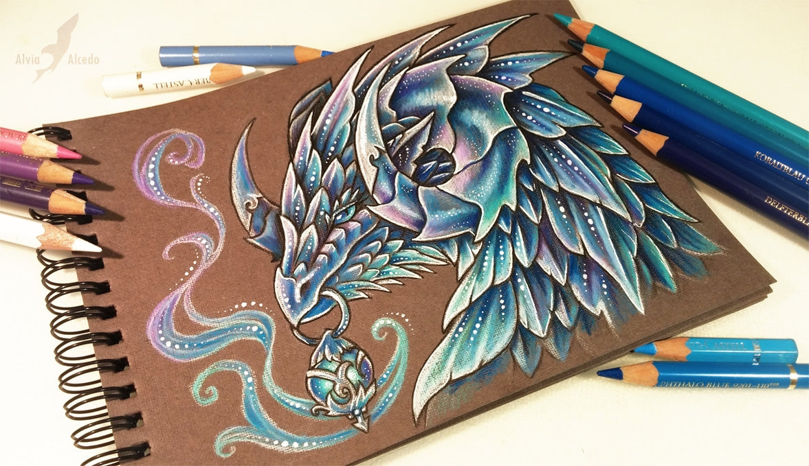 14-Winter-leathern-Alvia-Alcedo-Dragon-and-other-Mythical-Fantasy-Drawings-www-designstack-co