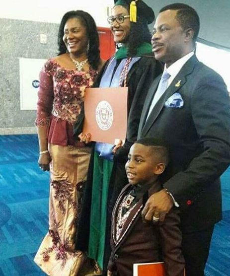 Gov Obiano's daughter Ogechi graduates from US university