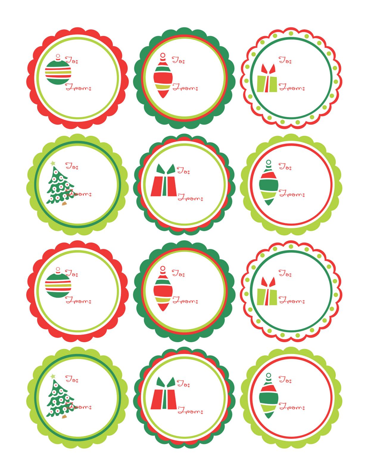 Plantillas para Imprimir. Etiquetas para Regalos de Navidad