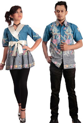 model baju batik couple pasangan elegan