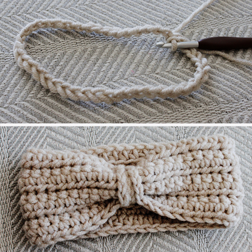 Chained Ear Warmer - Free Pattern