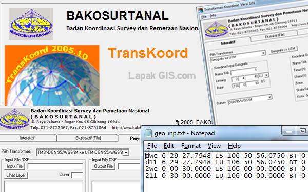 Software Bantu Konverter Koordinat dari BAKOSURTANAL