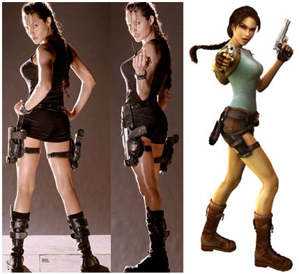 Lara Croft Angelina Jolie Costume Traffic Club