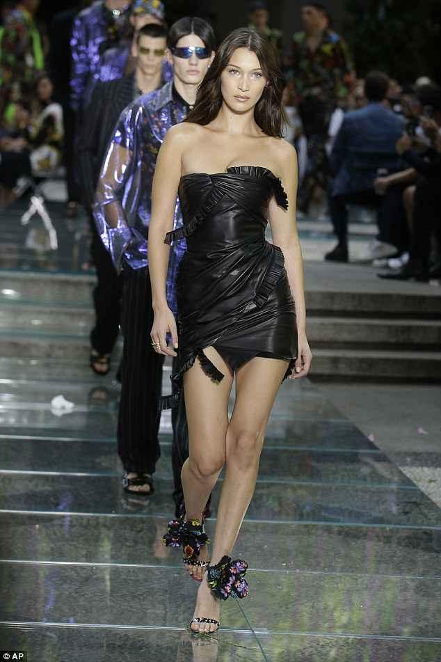 Bella Hadid - Versace show in Milan