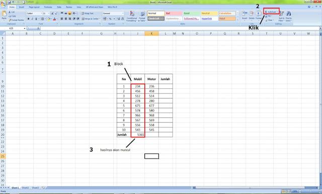 Cara Menjumlahkan Angka di Excel Secara Otomatis Tanpa Rumus